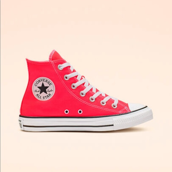 Converse All-Stars Neon Bright Crimson High Tops